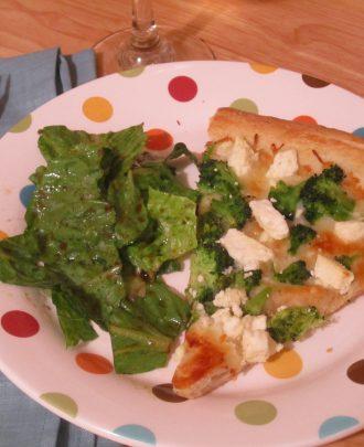 Broccoli and Feta Pizza
