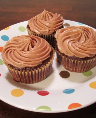 Triple Chocolate Cupcakes with Chocolate Cream Cheese Frosting