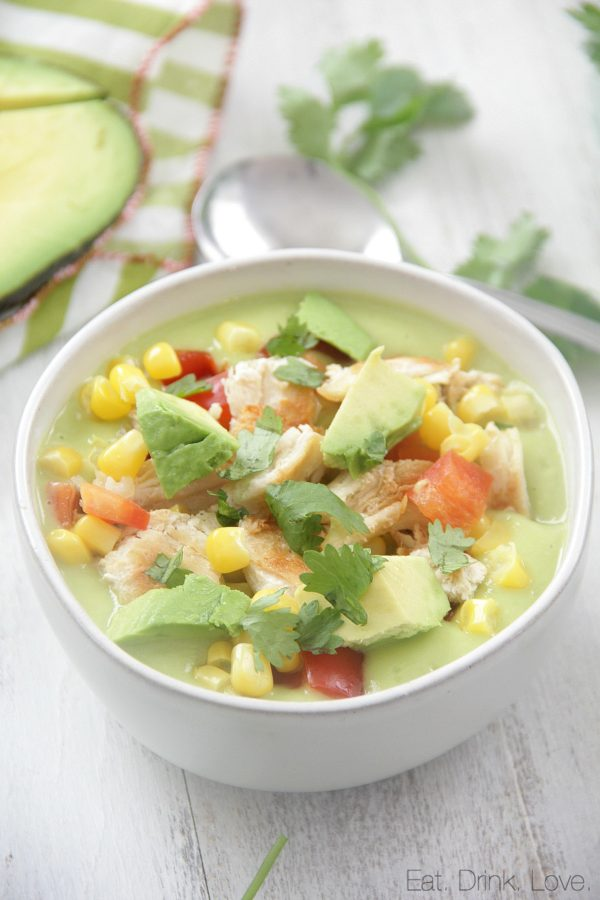 Avocado-Corn Chowder with Chicken