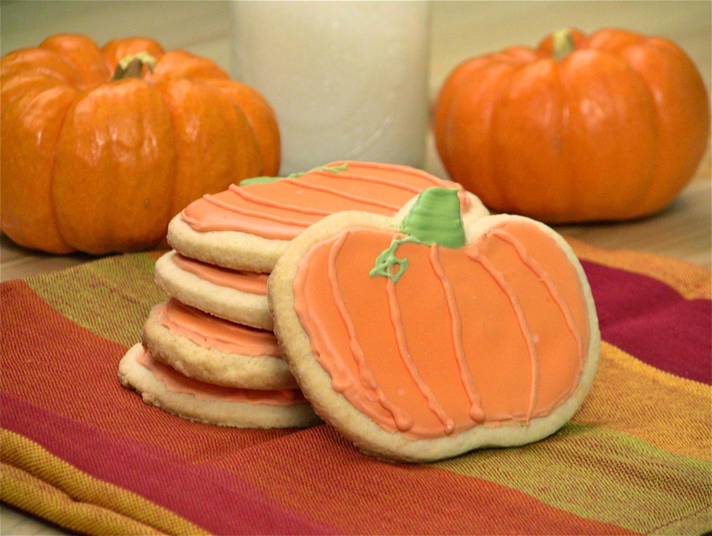 pumpkin sugar cookies - eat. drink. love.