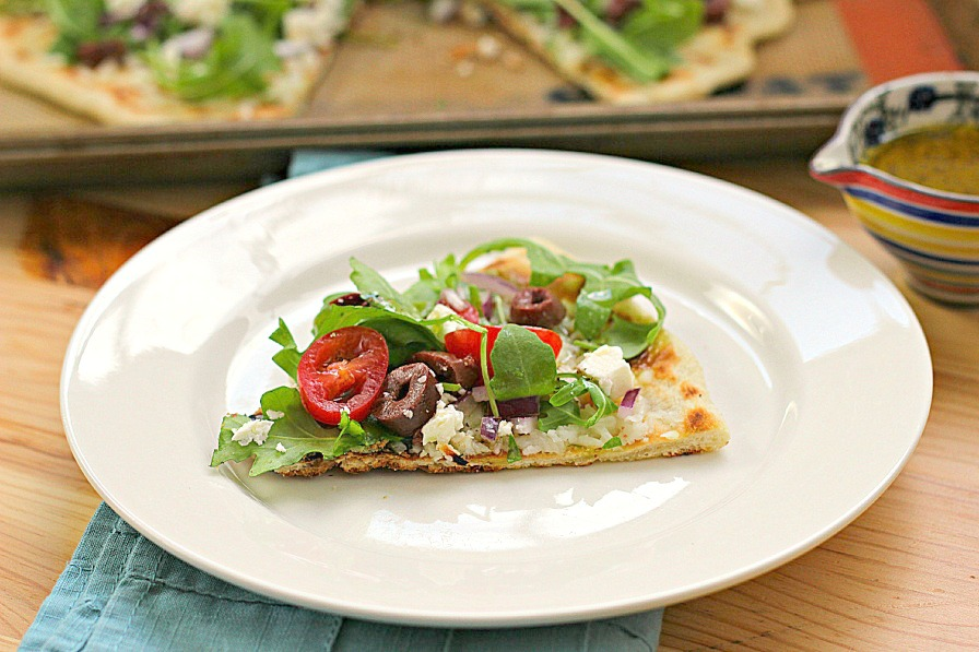 Grilled Greek Pizza Recipe — Dishmaps