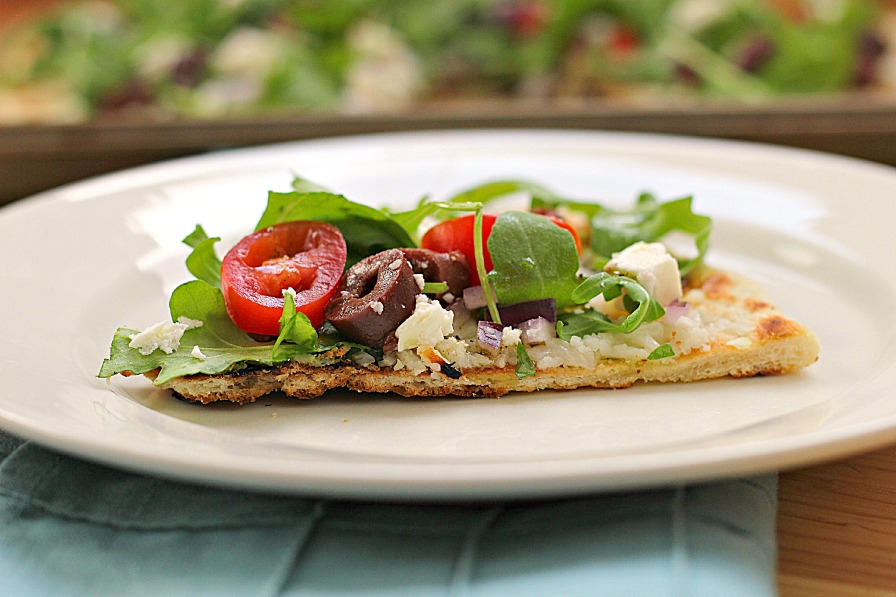 Greek Salad Grilled Pizza