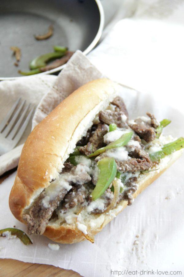 Skinny Cheesesteak Sandwiches