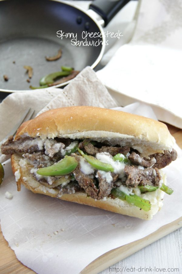 Skinny Cheesesteak Sandwiches