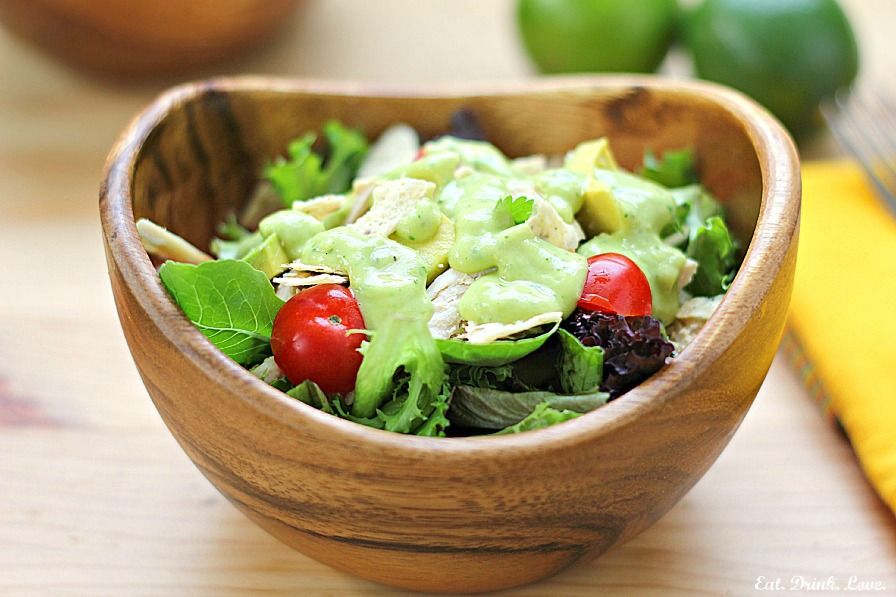 Southwest chicken salad with avocado lime dressing eat drink love southwest chicken salad with avocado lime dressing forumfinder Choice Image