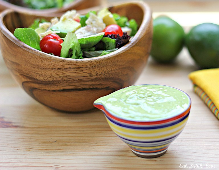 Southwest Chicken Salad with Avocado Lime Dressing