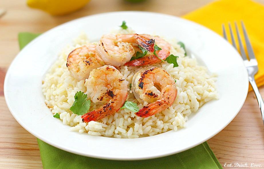 Citrus Shrimp Skewers with Lemon Rice