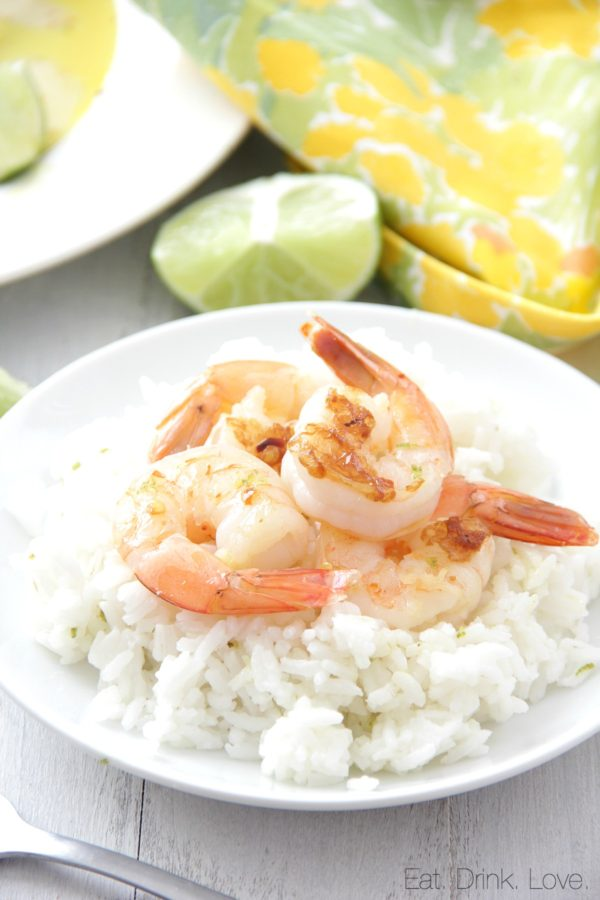 Citrus Shrimp Skewers with Lemon Rice