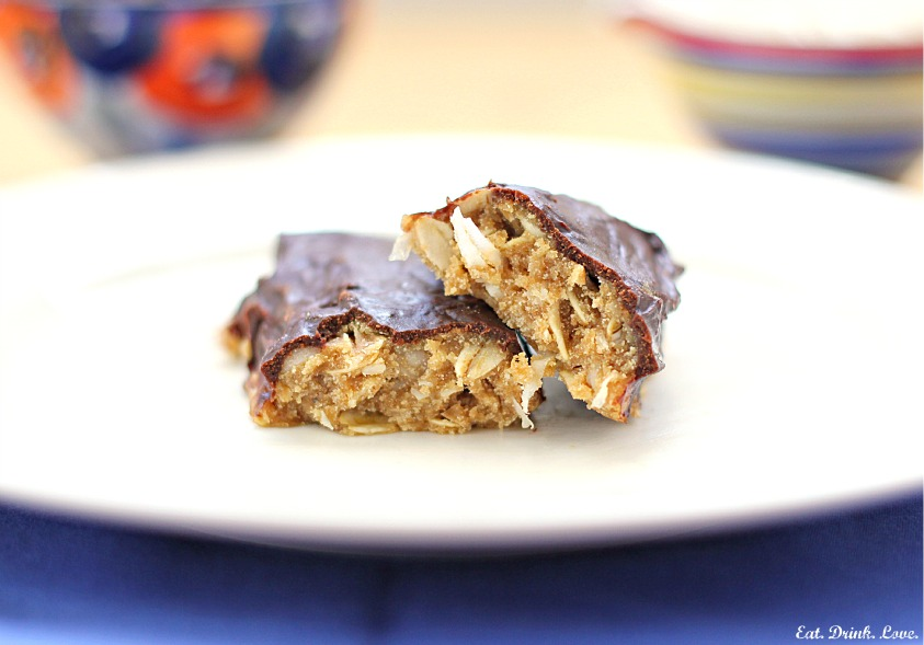 Peanut Butter Coconut Protein Bars