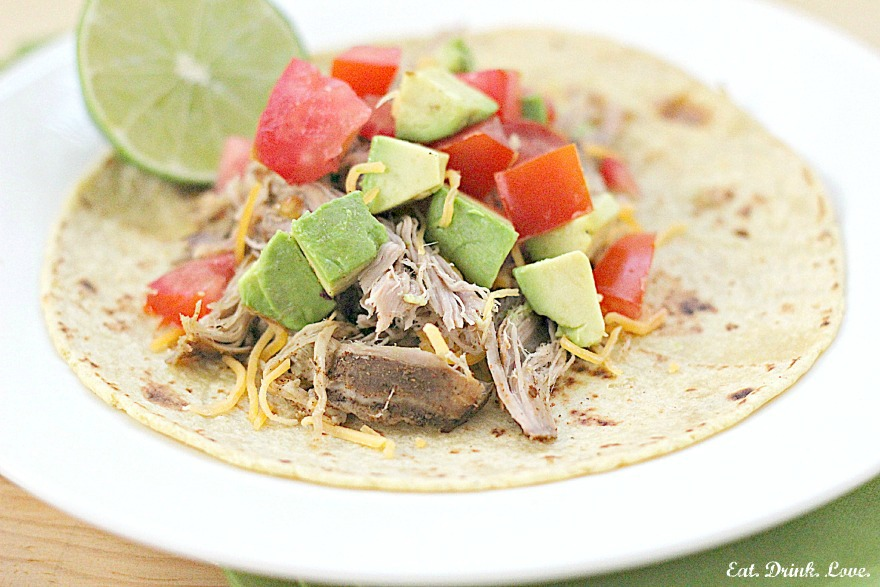Slow Cooker Chili Lime Pulled Pork Tacos