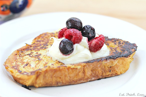 Challah Bread French Toast with Lemon Mascarpone