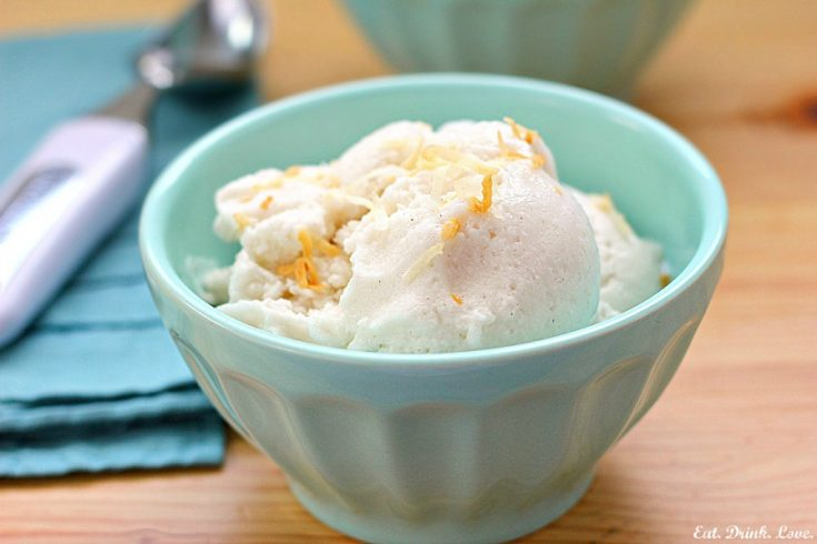 Coconut Honey Ice Cream