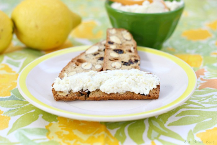 Lemon Honey Goat Cheese Spread