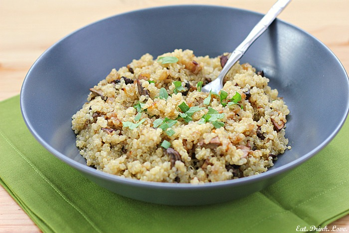 Skinny Bitch Tuesdays: Quinoa Pilaf with Mushrooms and Caramelized ...