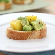Mango Avocado Crostini