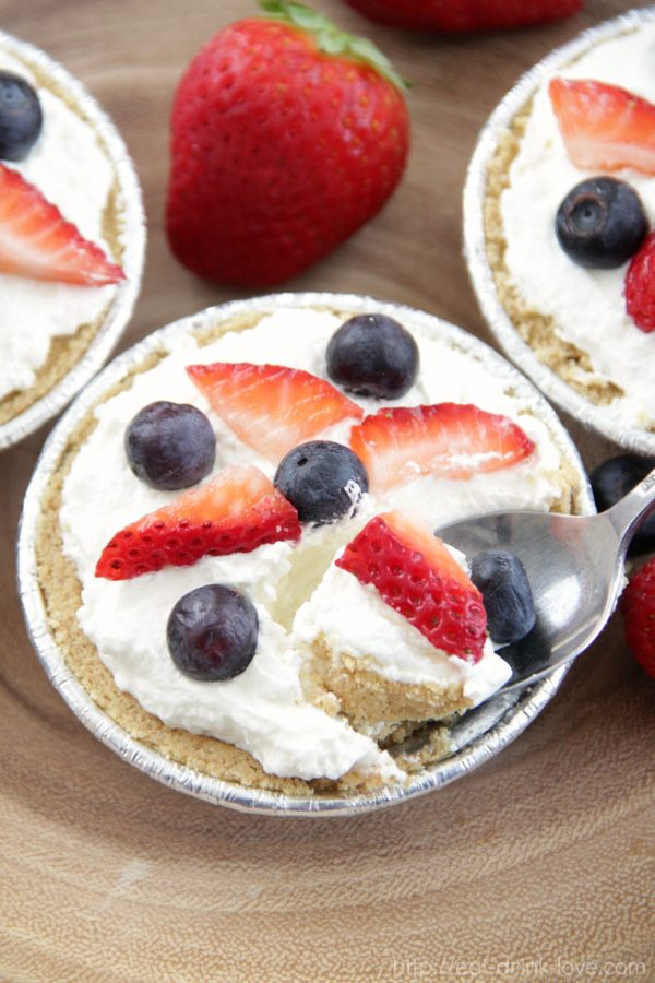 Mini Lemon Mascarpone Fruit Pies