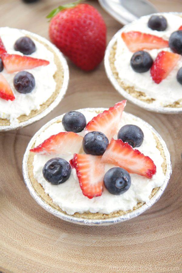 Mini Lemon Mascarpone Fruit Pies