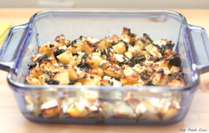 Potato Goat Cheese Bake