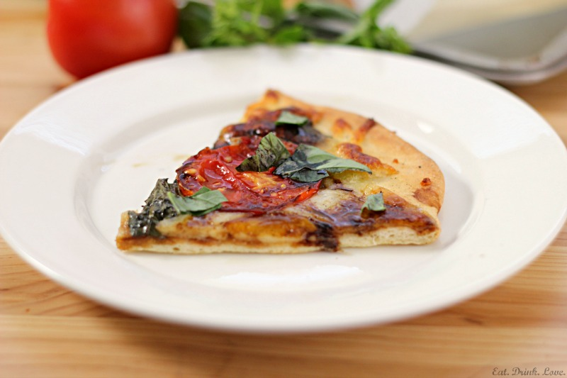 Caprese Pizza with Balsamic Reduction Sauce