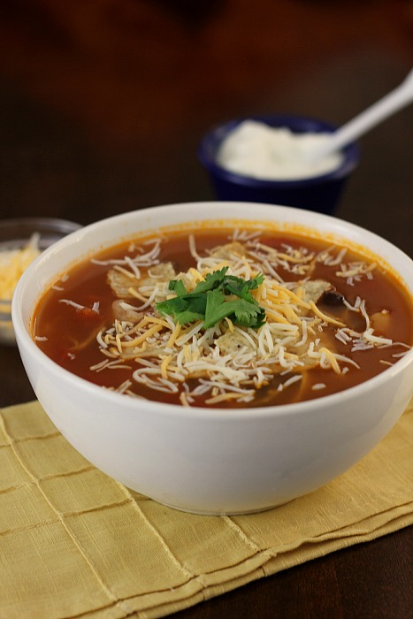 30-Minute Chicken Tortilla Soup