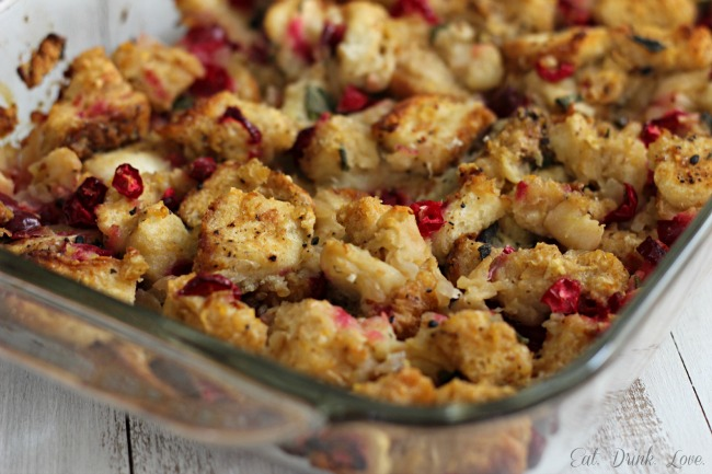 apple cranberry stuffing eat drink love