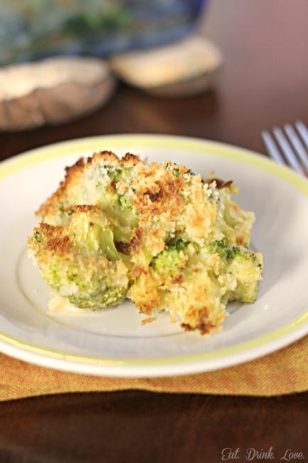 Low Fat Broccoli Gratin