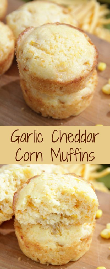 Garlic Cheddar Corn Muffins