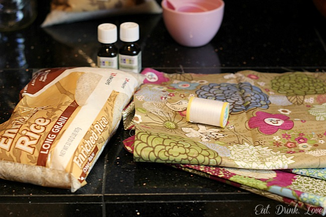 D.I.Y. Rice Sack Heating Pads