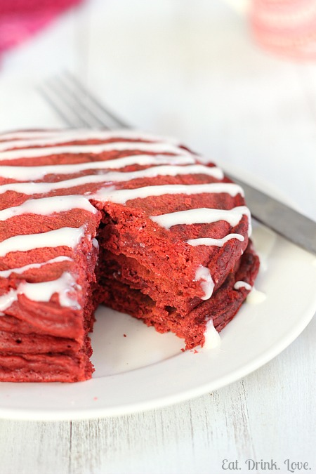 Red Velvet Pancakes | Eat. Drink. Love.