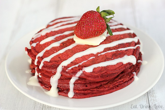Image result for red velvet pancakes