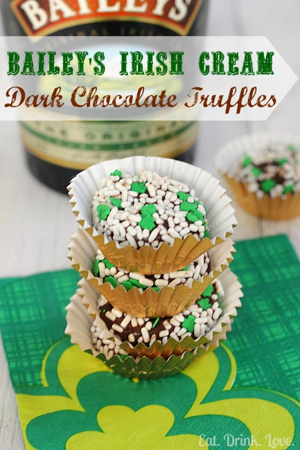 Bailey's Irish Cream Dark Chocolate Truffles