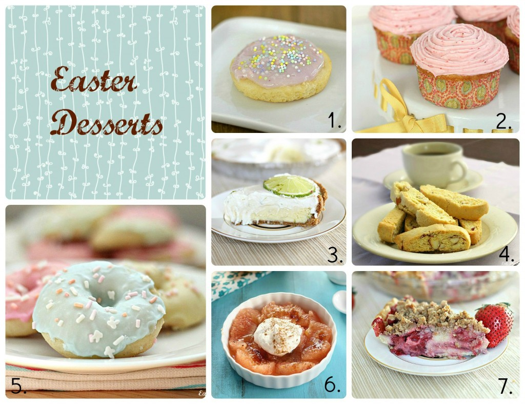 Easter Desserts Collage