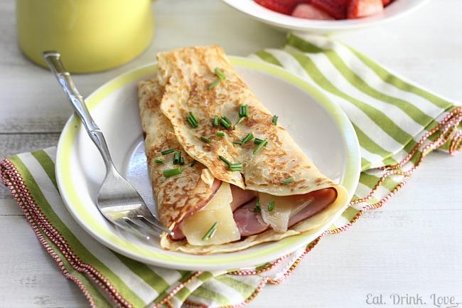 Ham and Gruyère Crêpes
