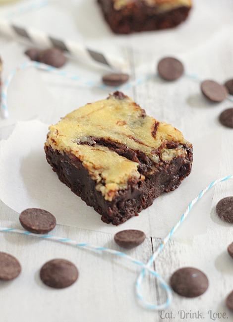 Nutella Cheesecake Swirl Brownies