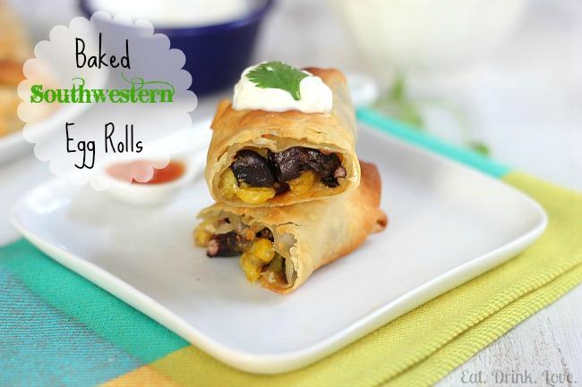 Baked Southwestern Egg Rolls