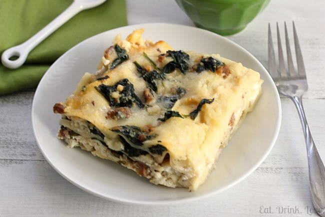 Spinach and Turkey Sausage Lasagna - Eat. Drink. Love.