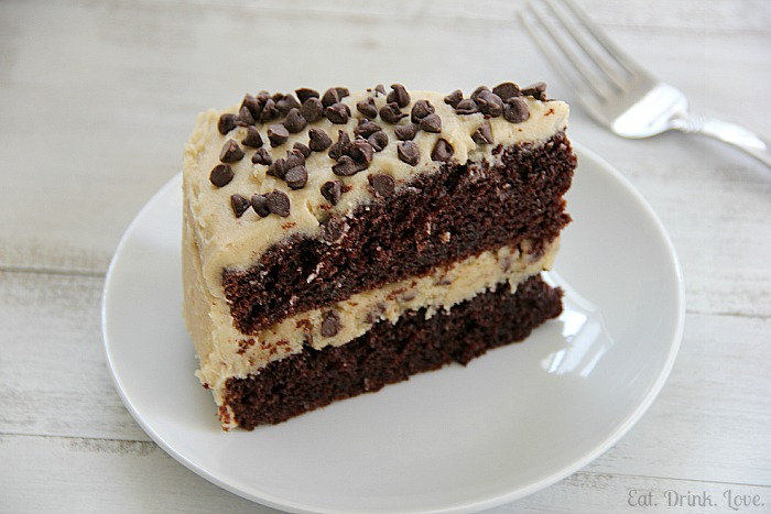 cookie dough cake chocolate chip cookie dough cake eat drink 3036