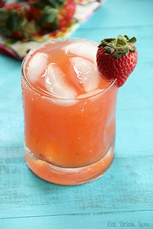 Skinny Strawberry Margaritas