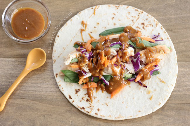 Spicy Peanut Chicken Wrap