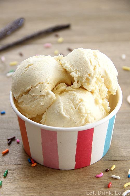 Low-Fat Vanilla Bean Ice Cream - Eat. Drink. Love.