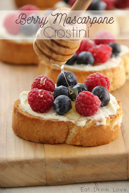Berry and Mascarpone Crostini