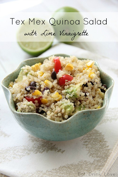 Tex Mex Quinoa Salad with Lime Vinaigrette