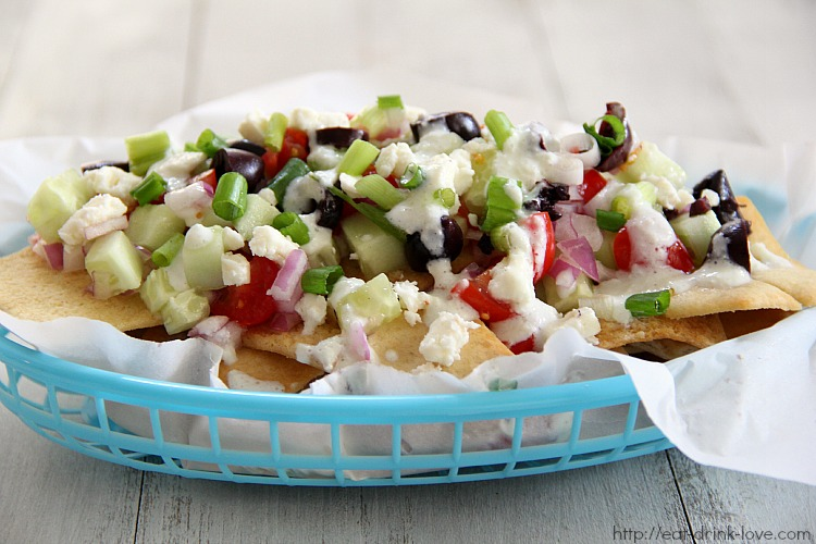 Greek Nachos - Eat. Drink. Love.