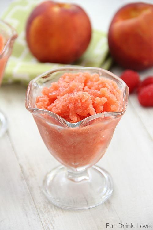 Raspberry Peach Granita