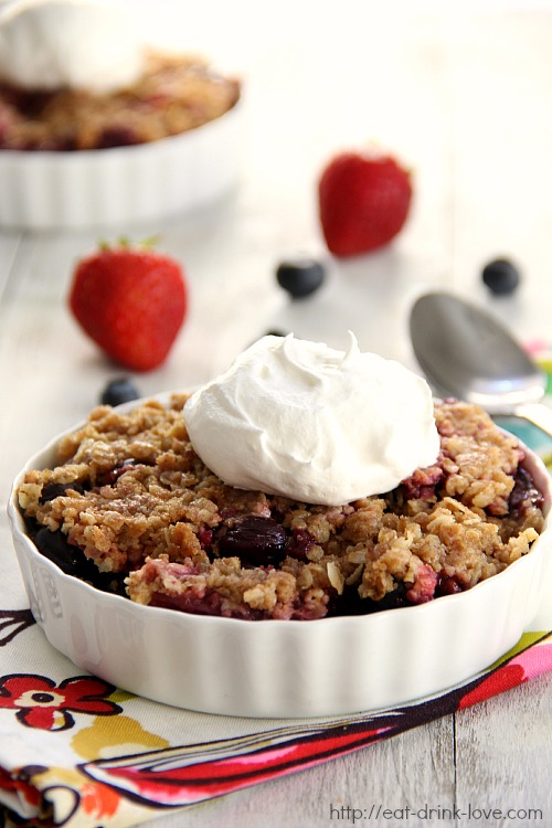 Blueberry Strawberry Crumble
