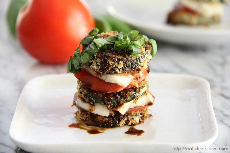 Baked Zucchini Stacks with Balsamic Glaze