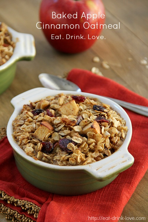 Baked Apple Cinnamon Oatmeal - Eat. Drink. Love.