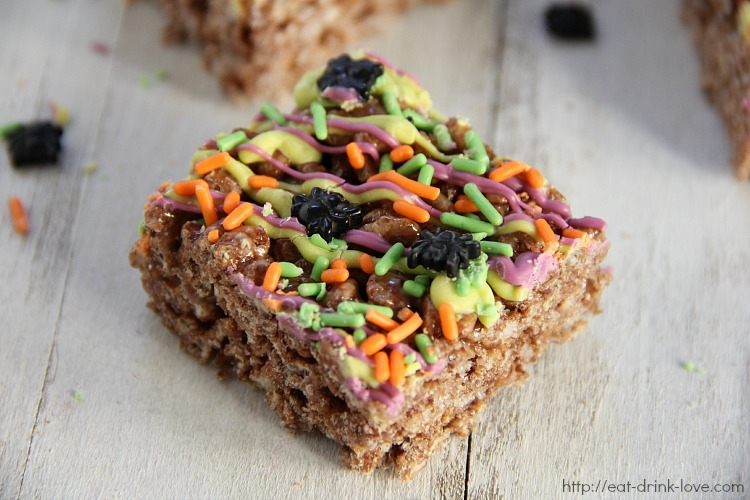 Halloween Cocoa Krispie Treats