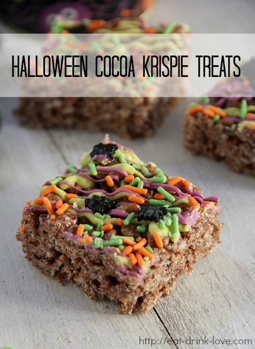 Halloween Cocoa Krispie Treats