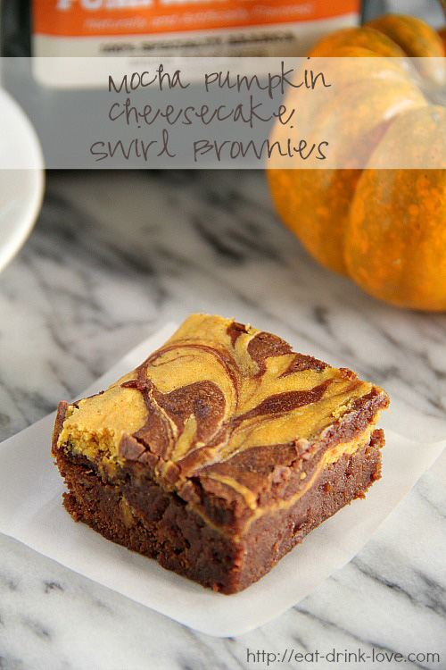 Mocha Pumpkin Cheesecake Brownies